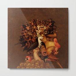 """Giuseppe Arcimboldo """"Four elements - Air"""" Metal Print"""