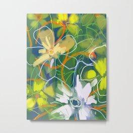 Flowers Field Metal Print