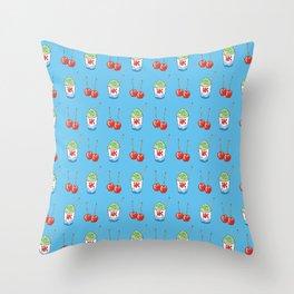 kakigori & candy apple Throw Pillow