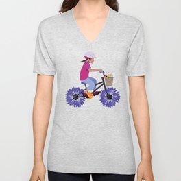 Summer Bike Ride Unisex V-Neck