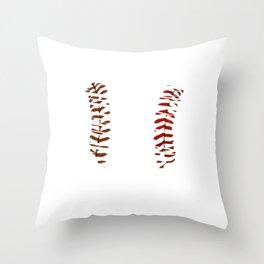 Awesome Baseball Shirt For Sporty You T-shirt Design Field Bat Home Run Sports Heart Gloves Throw Pillow