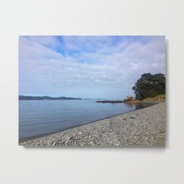 Stone Beach NZ Metal Print