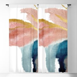 Exhale: a pretty, minimal, acrylic piece in pinks, blues, and gold Blackout Curtain