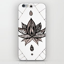 Henna Lotus iPhone Skin