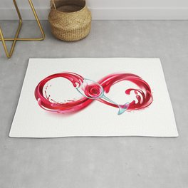 Infinity with Red Wine Rug