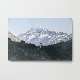 Early Hike to Mt Cook - landscape Metal Print