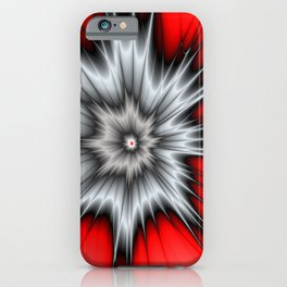 Crazy, Abstract Fractal Art iPhone Case