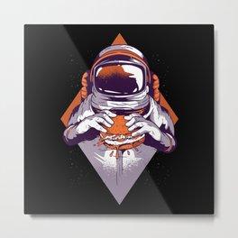 Fast Food Astronaut Metal Print