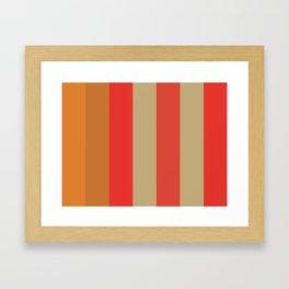 FOREVER : F(ulvous) O(chre) R(ed) E(cru) V(ermilion) E(Cru) R(ed) Framed Art Print