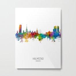 Halmstad Sweden Skyline Metal Print