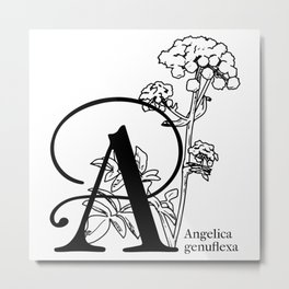 A is for Angelica Metal Print