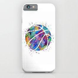Basketball Watercolor Art Print Sports Poster Home Decor Kids Room Sports Painting Nursery Decor iPhone Case