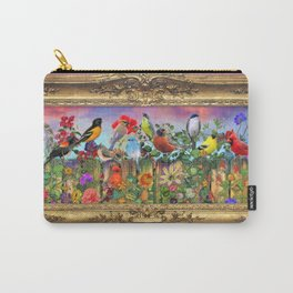 Birds and Blooms Carry-All Pouch