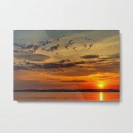 Ahl Beach Sunset Metal Print