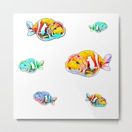 Ranch Goldfish Fancy Goldfish Aquarium Fish  Metal Print