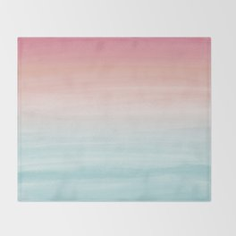 Touching Watercolor Abstract Beach Dream #1 #painting #decor #art #society6 Throw Blanket