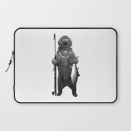 Harpoon Fishing Bear Laptop Sleeve