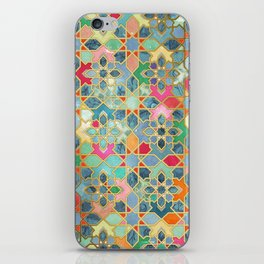 Gilt & Glory - Colorful Moroccan Mosaic iPhone Skin