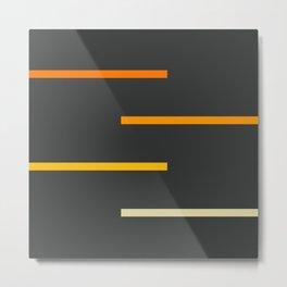 Abstract Minimal Retro Stripes Ashtanga Metal Print