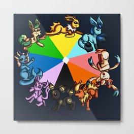 Eeveelution Color Wheel Metal Print