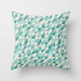 Hashed Blue Throw Pillow