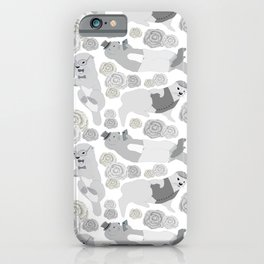 Hipster otters iPhone Case