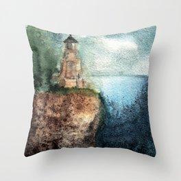 Recollection: Split Rock Lighthouse Throw Pillow