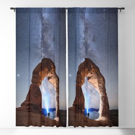 Starry Night Pointer at Milky Way Night sky in Moab Arches National Park  Utah USA  Blackout Curtain