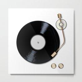 Record Deck Metal Print