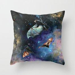Scream of a Great Bat Throw Pillow