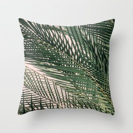 blush palm Throw Pillow