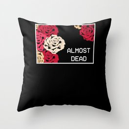 Almost Dead Aesthetic Grunge Soft Goth Throw Pillow