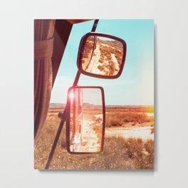 Van Life in the Desert - Art Print Metal Print