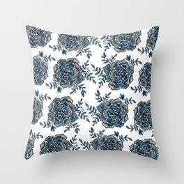Watercolor houseleek - neutral Throw Pillow