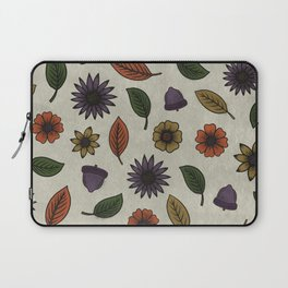 Fall Floral Pattern (OATMEAL) Laptop Sleeve