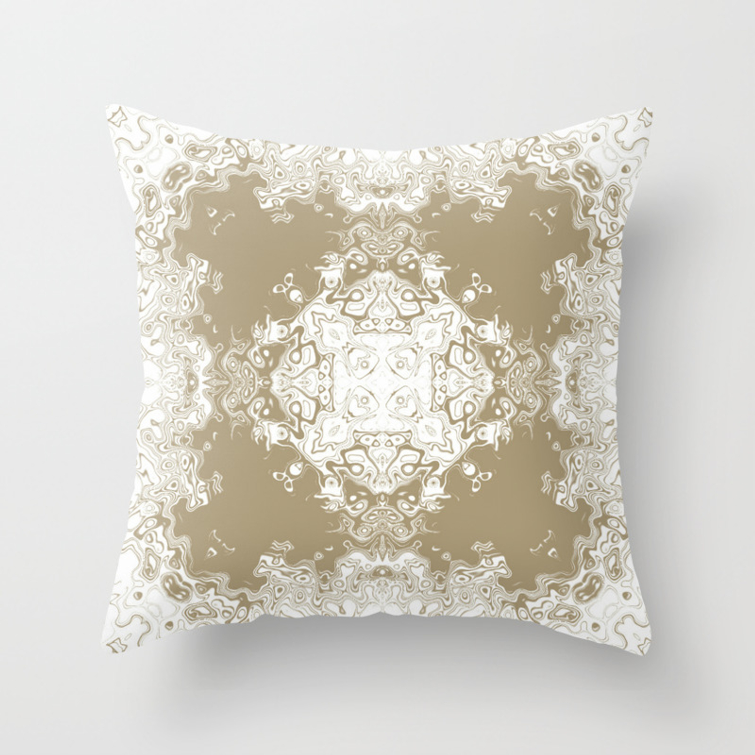 Fluffy Ink Throw Pillow By Galine Designs Society6