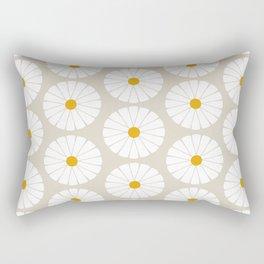 Minimal Botanical Pattern - Daisies Rectangular Pillow