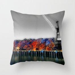 Scrap Metal Throw Pillow