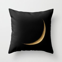 The Moon Sliver (Color) Throw Pillow