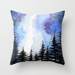 Star Forest Throw Pillow