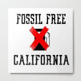 fossil free california Metal Print