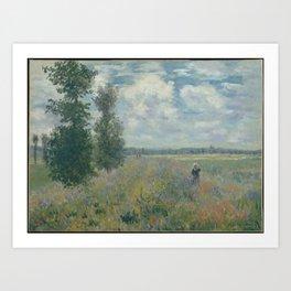 Claude Monet - Poppy Fields near Argenteuil (1875) Art Print
