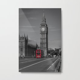 Big Ben and London Bus Metal Print