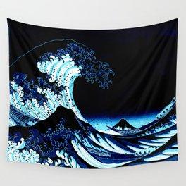 the Great Wave blue Wandbehang