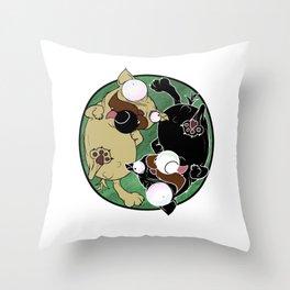 Pug Yin Yang Throw Pillow