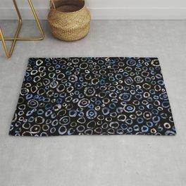 Circles Blue Charcoal Rug