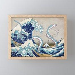 Haku and the Great Wave Framed Mini Art Print