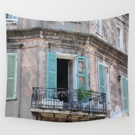 New Orleans French Quarter Balcony Wall Tapestry
