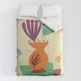 2 cyclamen in the jar Comforters