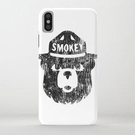 Smokey Bear Distressed Logo iPhone Case